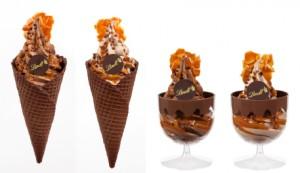 リンツ ソフトクリームショコラ キャラメルシーソルト
