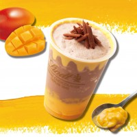 ミルクチョコレートマンゴーアイスドリンク
